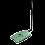 ALFA USB Stick AWUS036NH, 2,4GHz, 32dBm + 5dBi dipole antenna