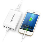 Blitwolf 40w 5 poort charger white with phone example