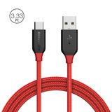 BlitzWolf AmpCore BW-TC5 3A USB Type-C gevlochten oplaad datakabel 1m rood