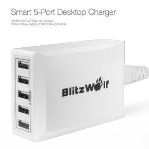Blitwolf 40w 5 poort charger white side