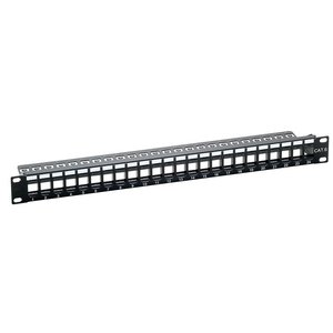 """Keystone Patchpanel 24 Poorts 19"""" (SNAP IN) RAL9005"""