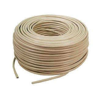 100m UTP CAT5e netwerk kabel stug 100% Koper