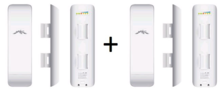 NanoStation M2: NSM2 2,4GHz HiPower 2x2 MIMO Station LINK-SET