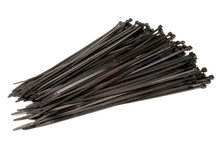 Tyrap kabelbinders 200mm x 2,5mm zwart, 100 stuks (UV Bestendig)
