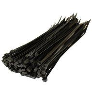 Tyrap kabelbinders 430mm x 4,8mm zwart, 100 stuks (UV Bestendig)